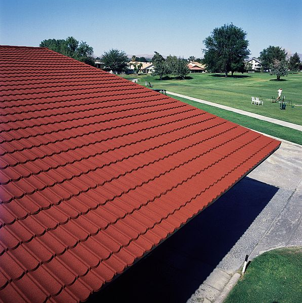 This image shows the finished shed roof work in Tracy, California.