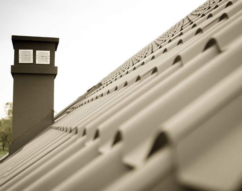 A picture of steel roofing in Tracy.